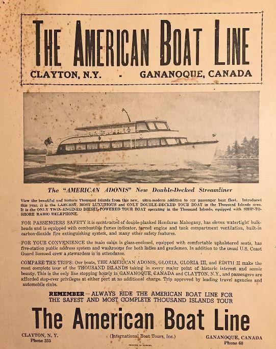 American Boat Line Flyer
