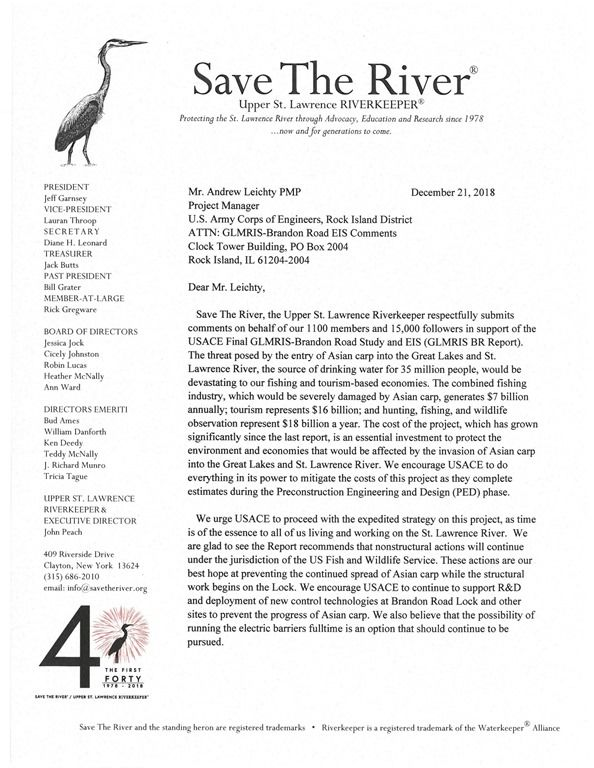 Save the River Letter