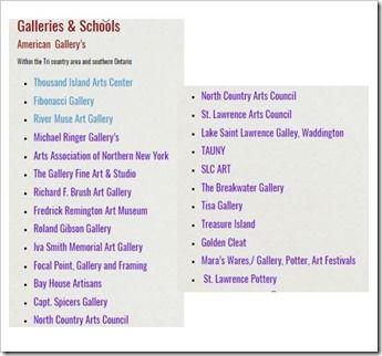 galleries & schools