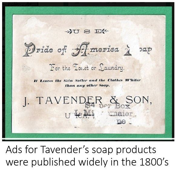 Tavender soap advert